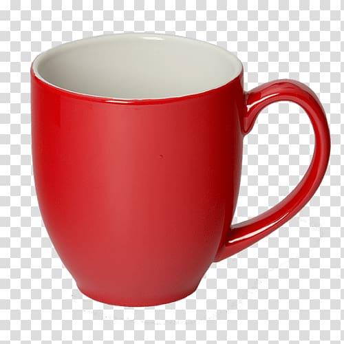 Red ceramic mug illustration, Red Coffee Mug transparent ... png free