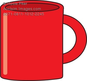Royalty Free Clipart Illustration of a Red Coffee Mug picture transparent library