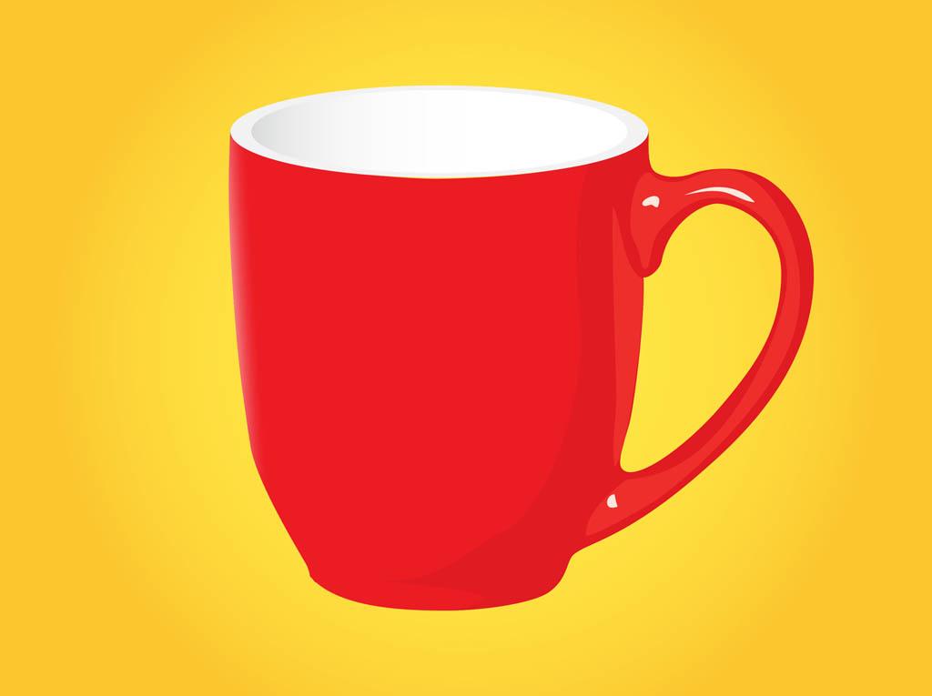 Red Coffee Mug Vector Art & Graphics   freevector.com jpg freeuse