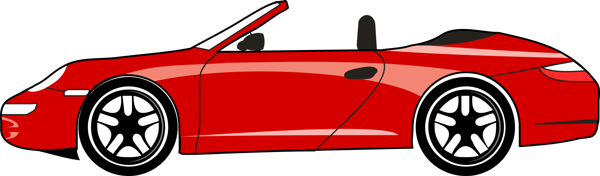 Red cars clipart jpg black and white Convertible Car Cliparts | Free download best Convertible ... jpg black and white