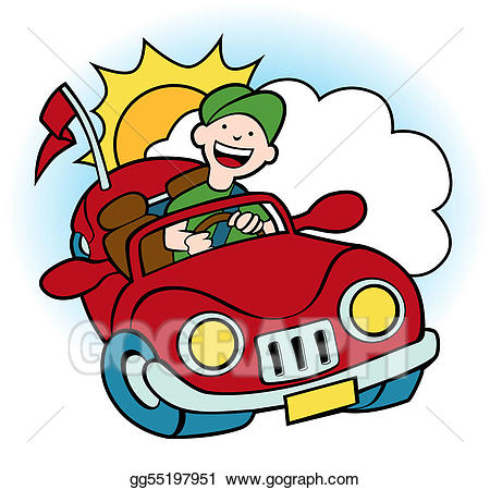 Red convertible clipart picture library EPS Illustration - Convertible car. Vector Clipart ... picture library