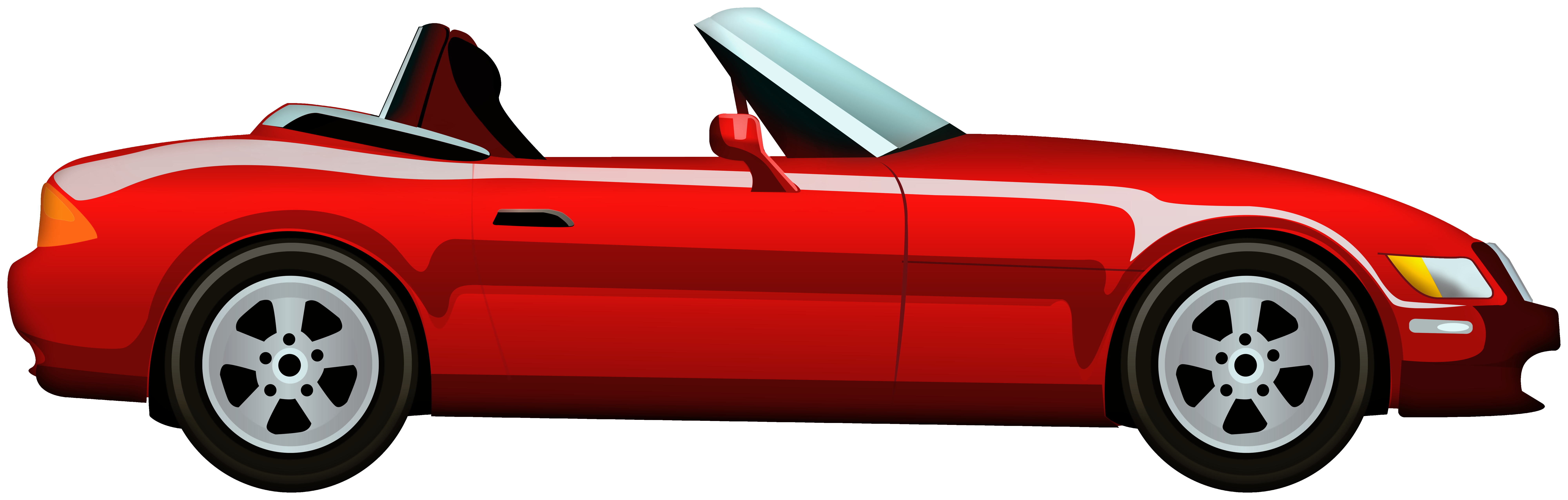 Red convertible clipart clip black and white Red Cabriolet Car PNG Clip Art - Best WEB Clipart clip black and white