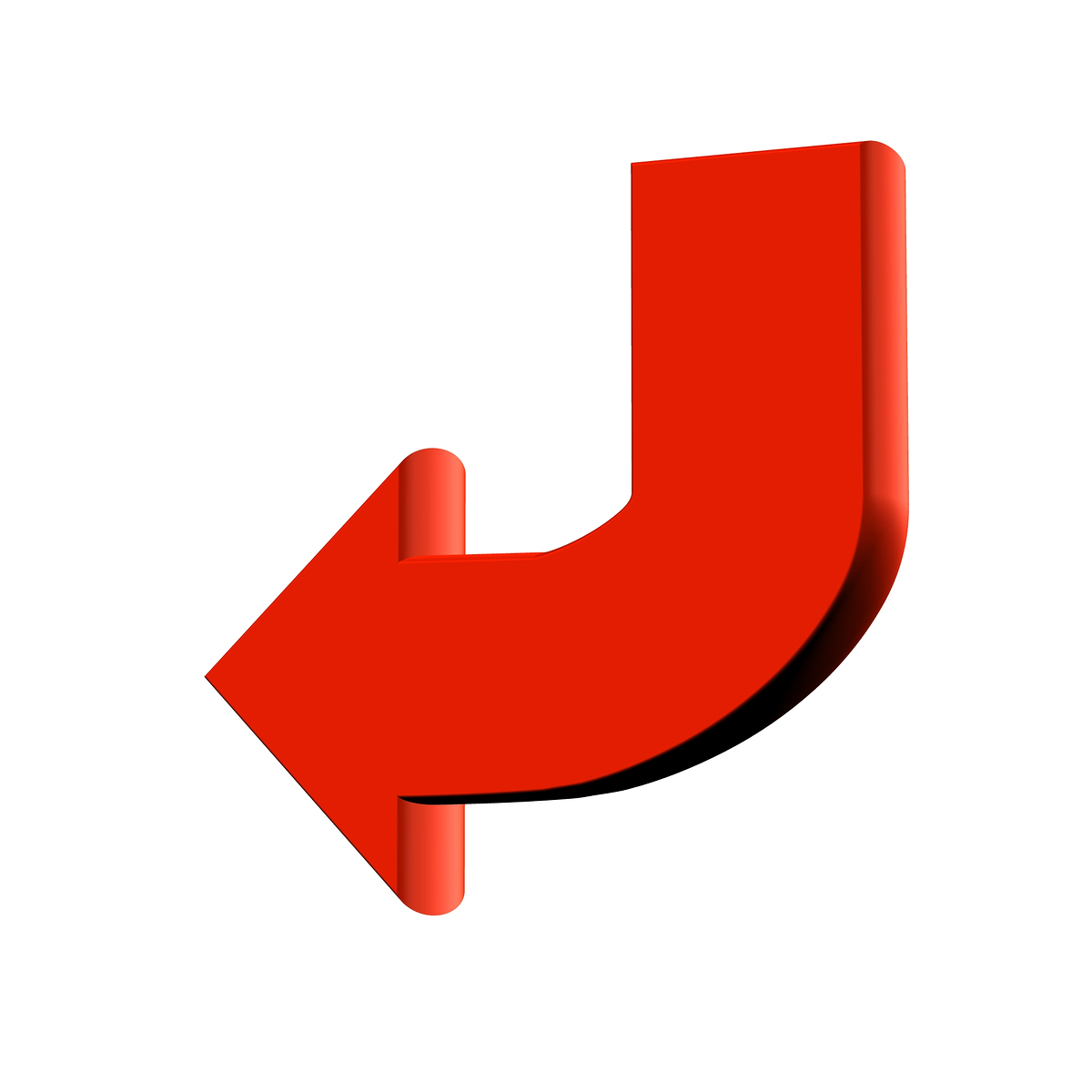 Red curved arrow left clipart clipart Red curved arrow left clipart - ClipartFest clipart