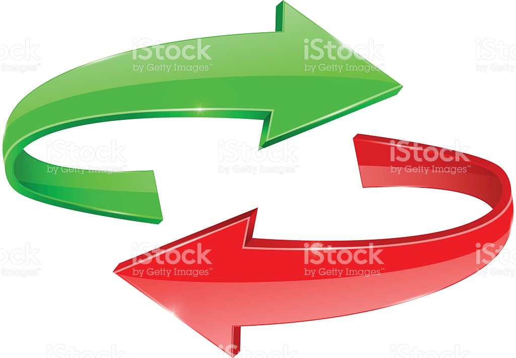 Red curved arrow left clipart svg Curved Arrows Green And Red Right And Left stock vector art ... svg