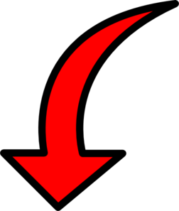 Red curved arrow left clipart image Red Arrow Filled Clip Art at Clker.com - vector clip art online ... image