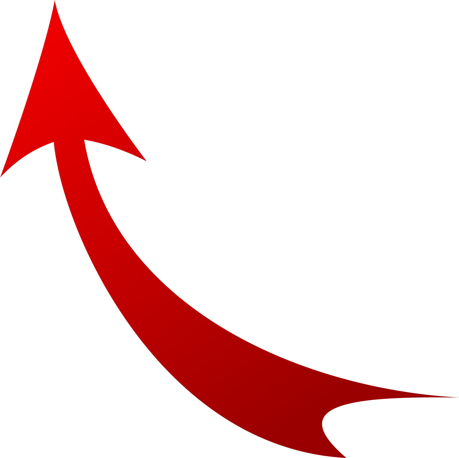 Red curved arrow left clipart vector library download Curved Arrow Clipart - Clipart Kid vector library download