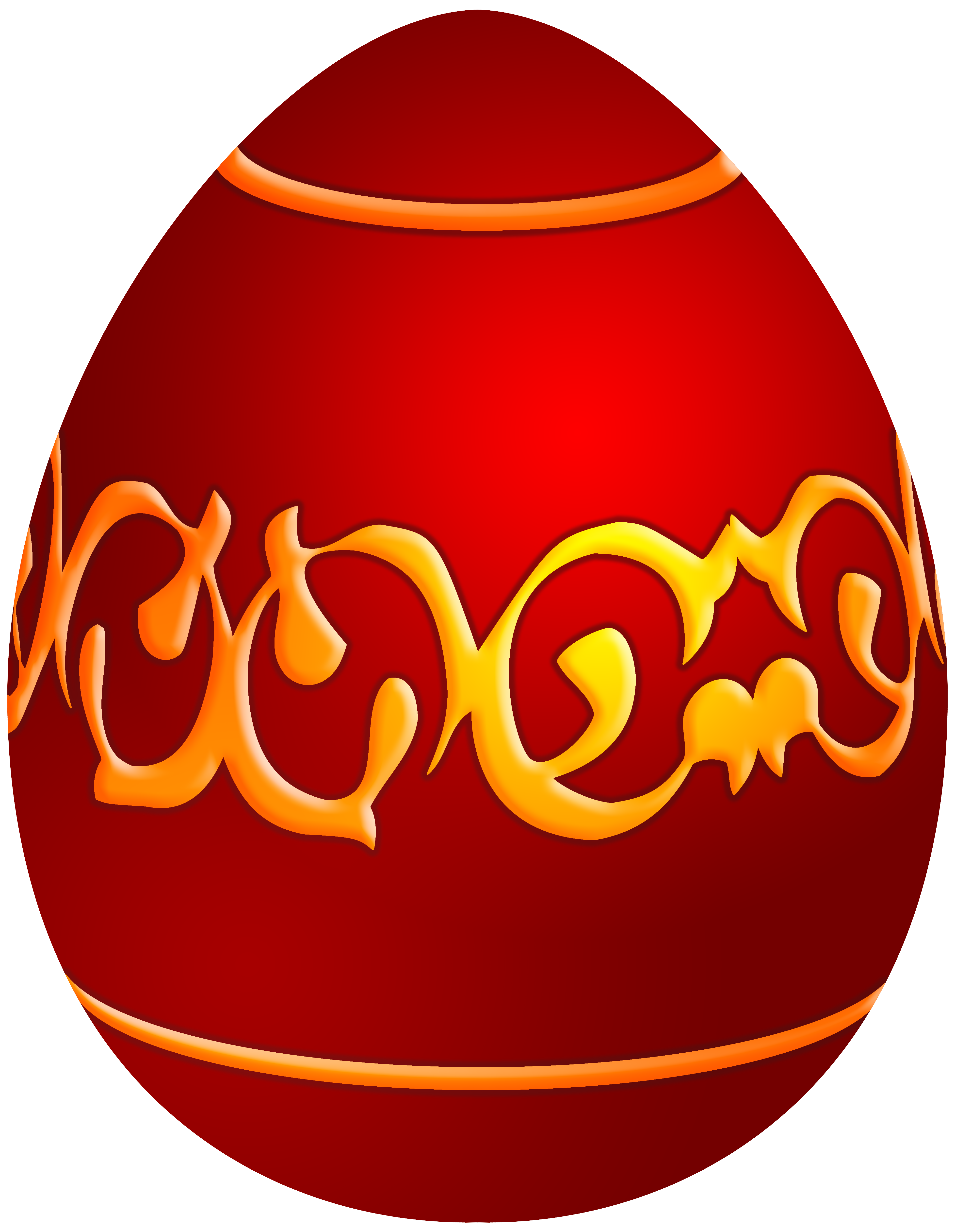 Red decoration clipart image freeuse stock Easter Decorative Red Egg PNG Clip Art - Best WEB Clipart image freeuse stock