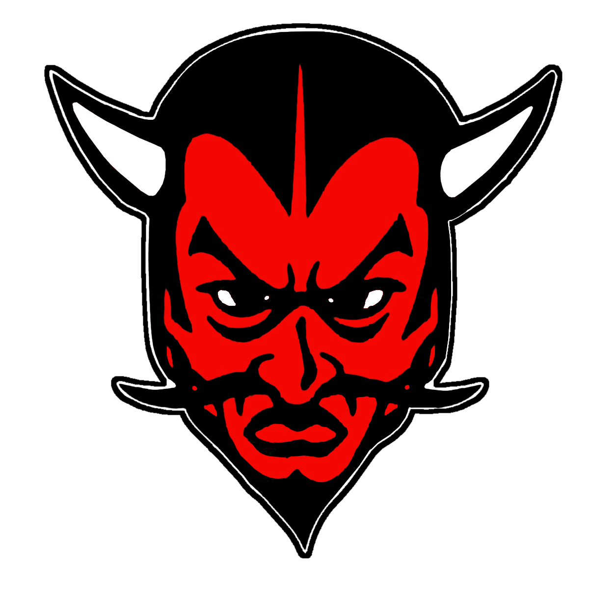 Red devil basketball clipart vector black and white The Ravenswood Red Devils - ScoreStream vector black and white