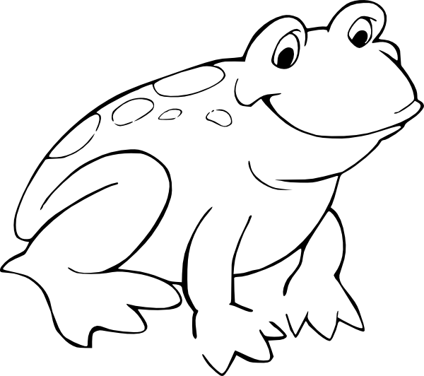 Tree frog clipart black and white picture freeuse Cute Frog Clip Art Black And White | Clipart Panda - Free Clipart Images picture freeuse