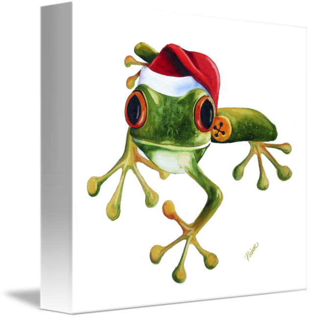Red eyed tree frog clipart black and white png black and white stock Tree Frog Christmas by Peg Lozier png black and white stock