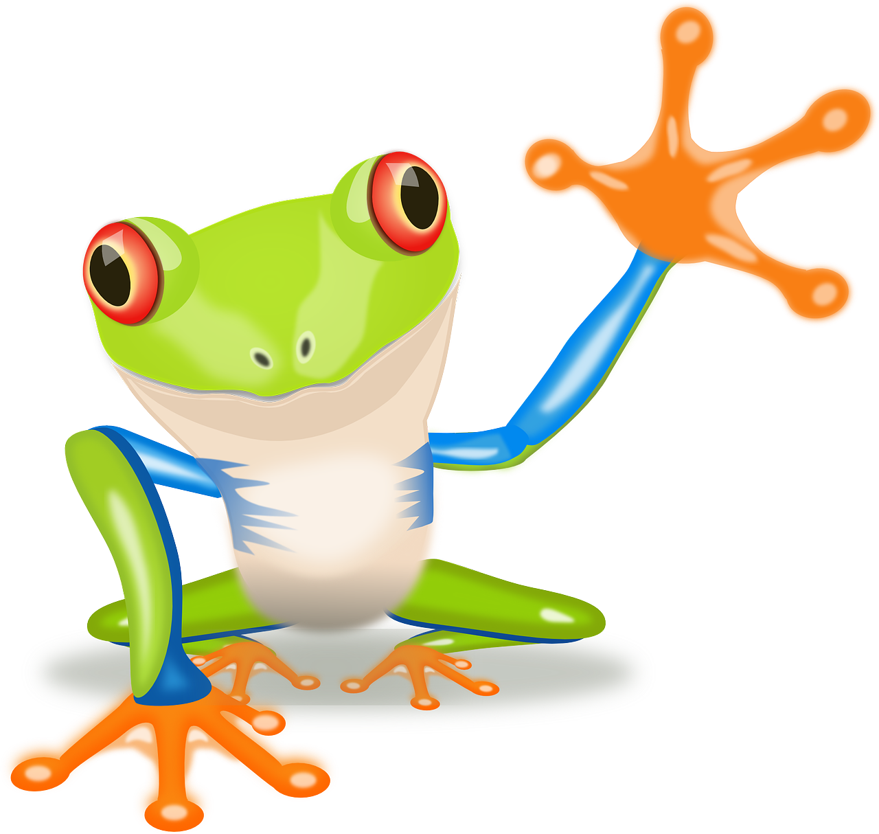 Red eyed tree frog clipart black and white black and white stock FridayFrogFact – These Mind-blowing Facts Will Convince You To Spend ... black and white stock