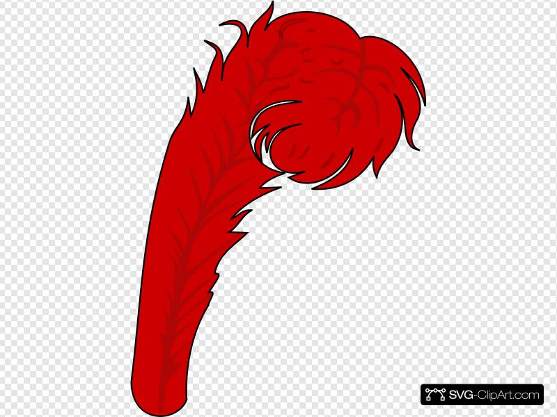 Red feather clipart banner download Red Feather 1 Clip art, Icon and SVG - SVG Clipart banner download