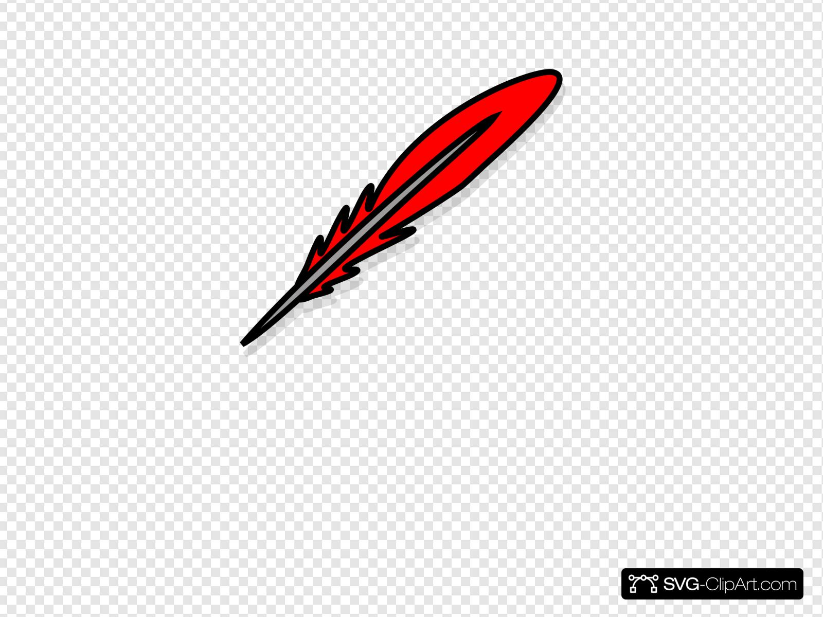 Red feather clipart clipart free stock Red Feather 2 Clip art, Icon and SVG - SVG Clipart clipart free stock
