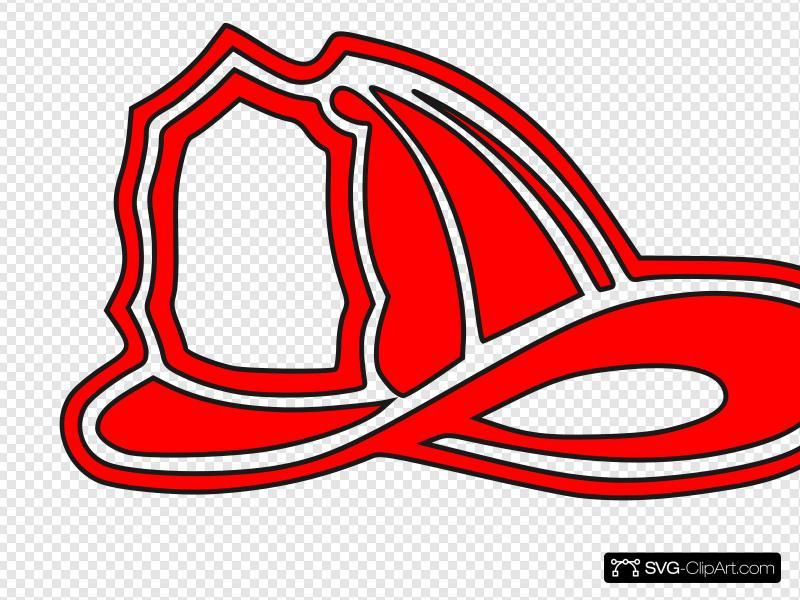 Red fire clipart image black and white download Red Fire Helmet Clip art, Icon and SVG - SVG Clipart image black and white download