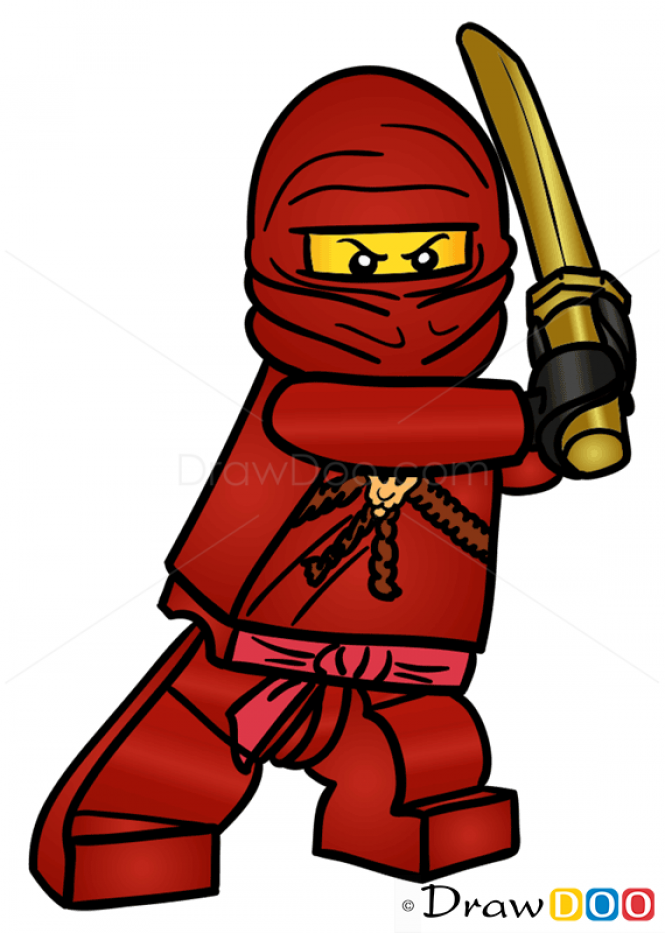 Red fire dragon ninjago kai clipart image transparent How to Draw Kai, Lego Ninjago | Brennan\'s fire stuff | Lego ... image transparent