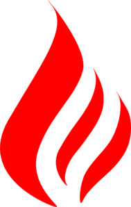 Red flames clipart clip black and white stock Red Flame Clip Art at Clker.com - vector clip art online ... clip black and white stock