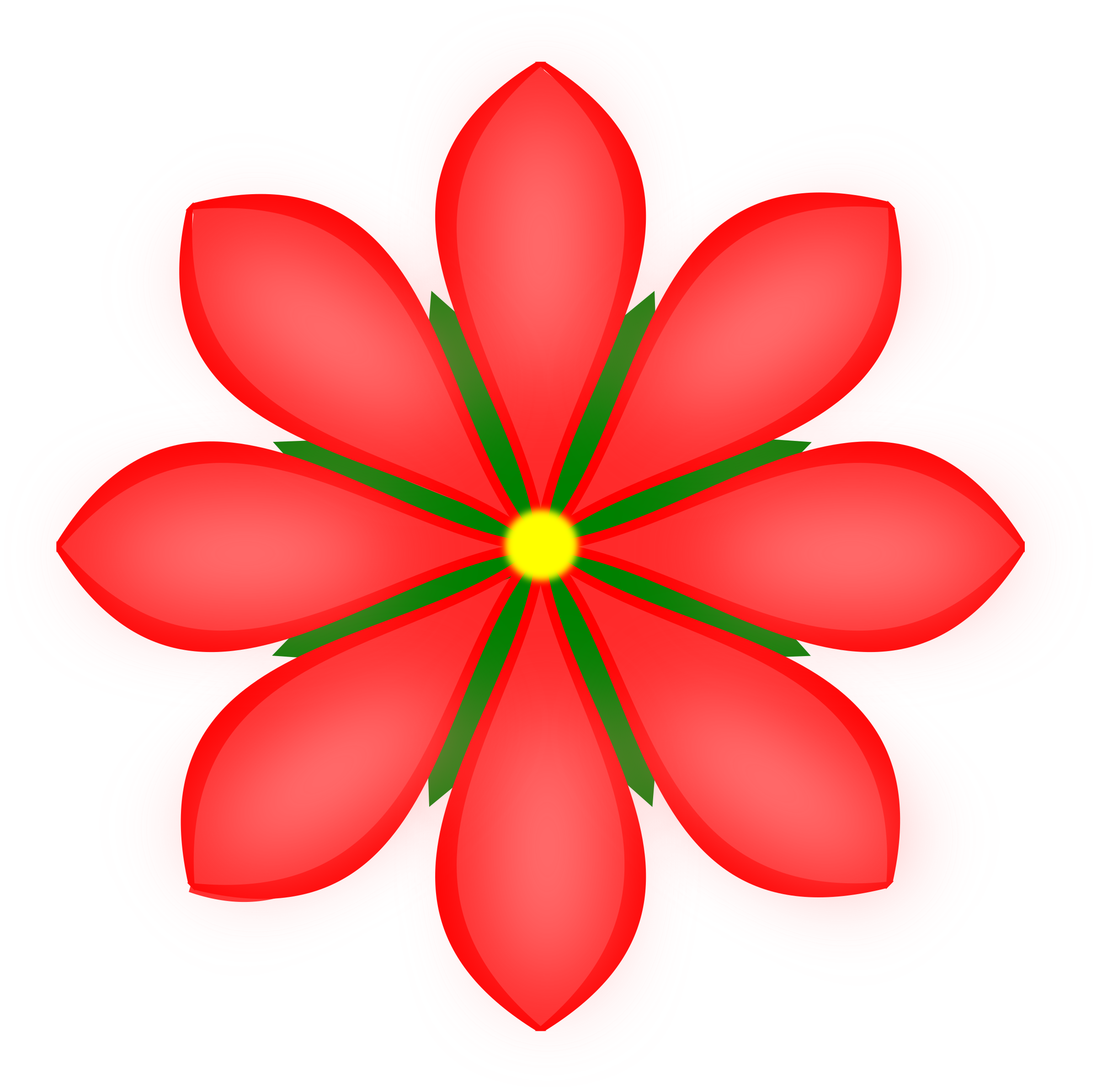 Red flower clipart banner free stock Clipart - red flower banner free stock
