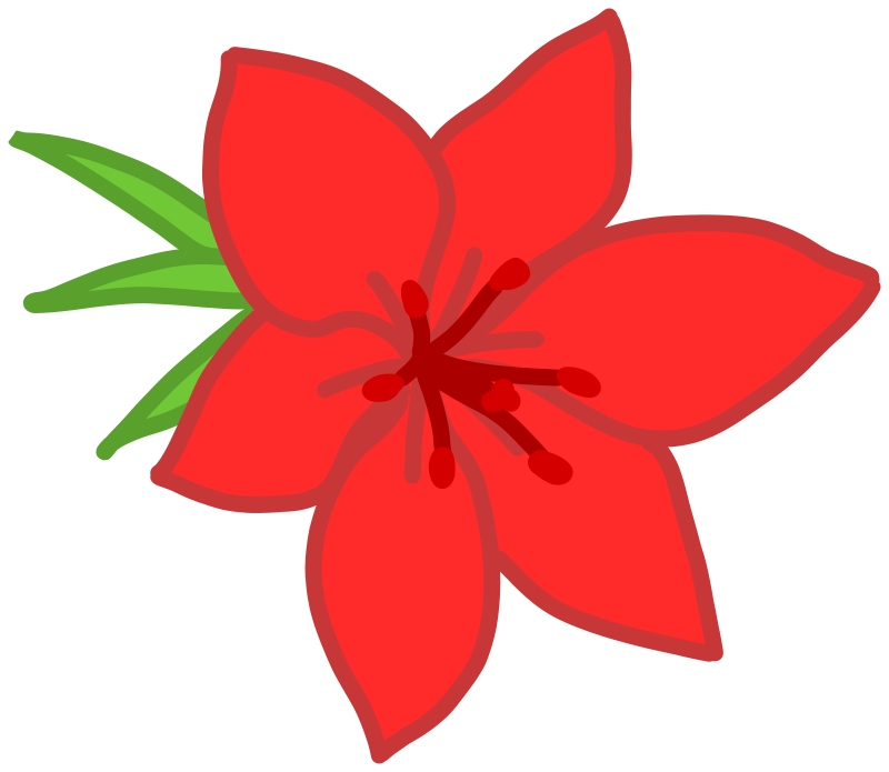 Red flower clipart picture library Clipart - Red flower picture library