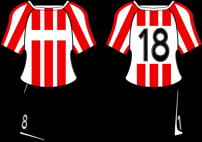 Red football jersey clipart vector freeuse stock File:POL Cracovia Kraków football kit.svg - Wikimedia Commons vector freeuse stock