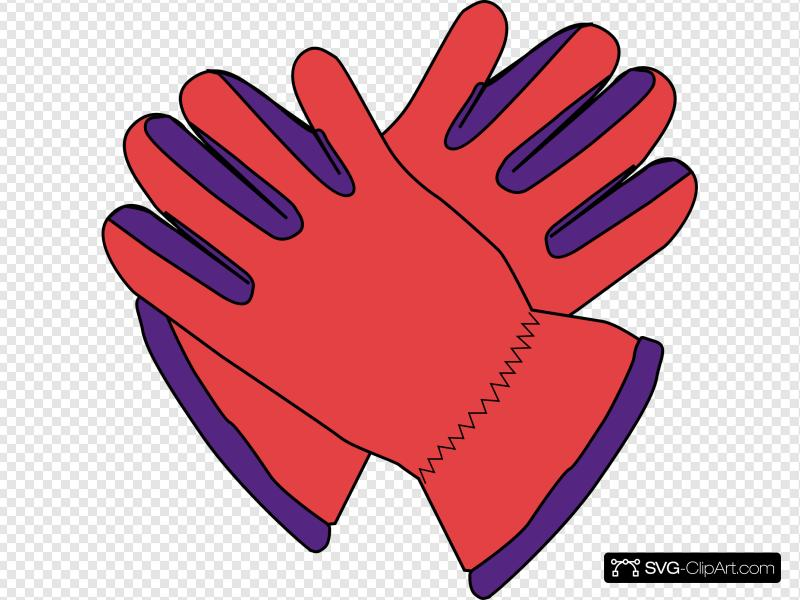 Red glove clipart banner freeuse stock Red Glove Clip art, Icon and SVG - SVG Clipart banner freeuse stock