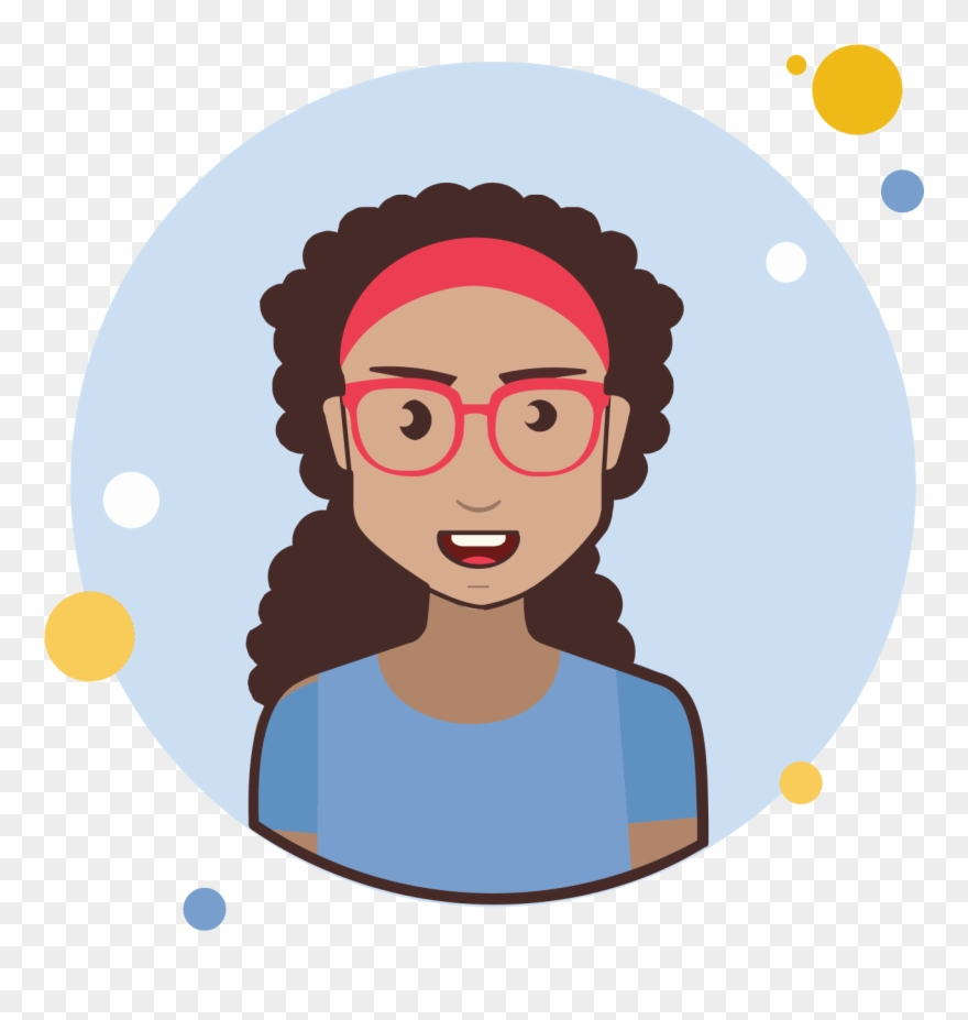 Red hairstyles long and curley curles clipart png royalty free stock Brown Long Curly Hair Lady With Red Glasses Icon - Hair ... png royalty free stock