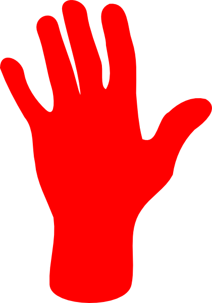 Red hand clipart png library stock Red Palm Hand Clip Art at Clker.com - vector clip art online ... png library stock