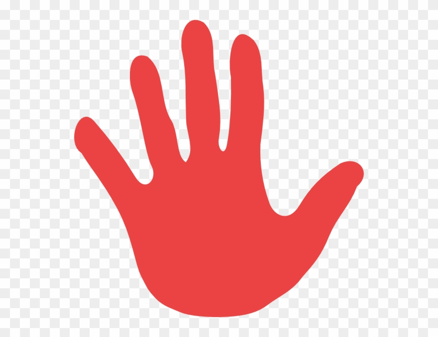 Red hand clipart download Red Group Works With Kids Ranging In Age From 5-7 As - Clker ... download