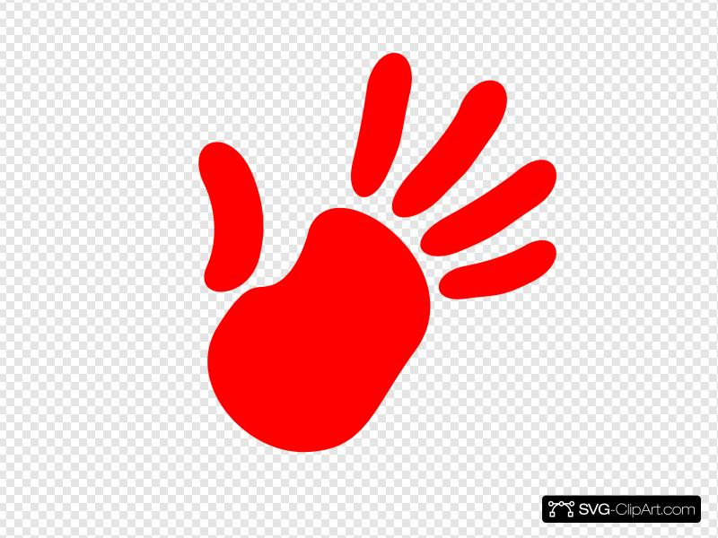 Red hand clipart graphic transparent Red Hand Clip art, Icon and SVG - SVG Clipart graphic transparent