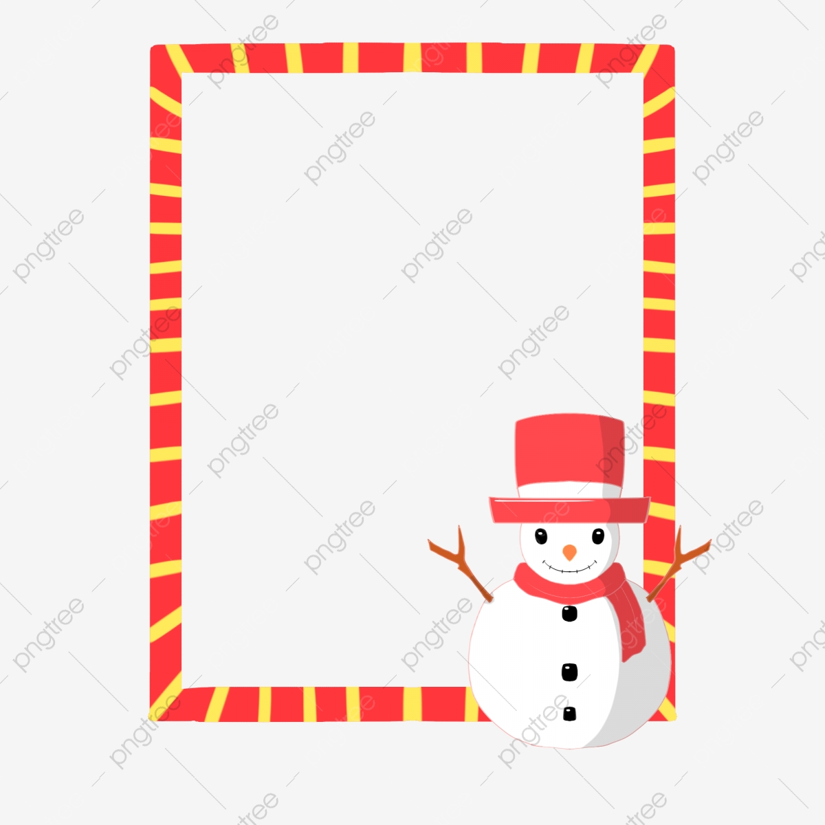 Cute Snowman Snowman Border Illustration Snowman Wearing Red ... svg black and white download