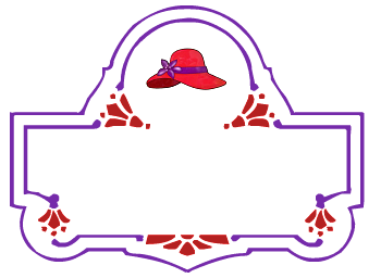 Red hat border clipart svg royalty free DIY Printable Nametags – Red Hats Victoria svg royalty free