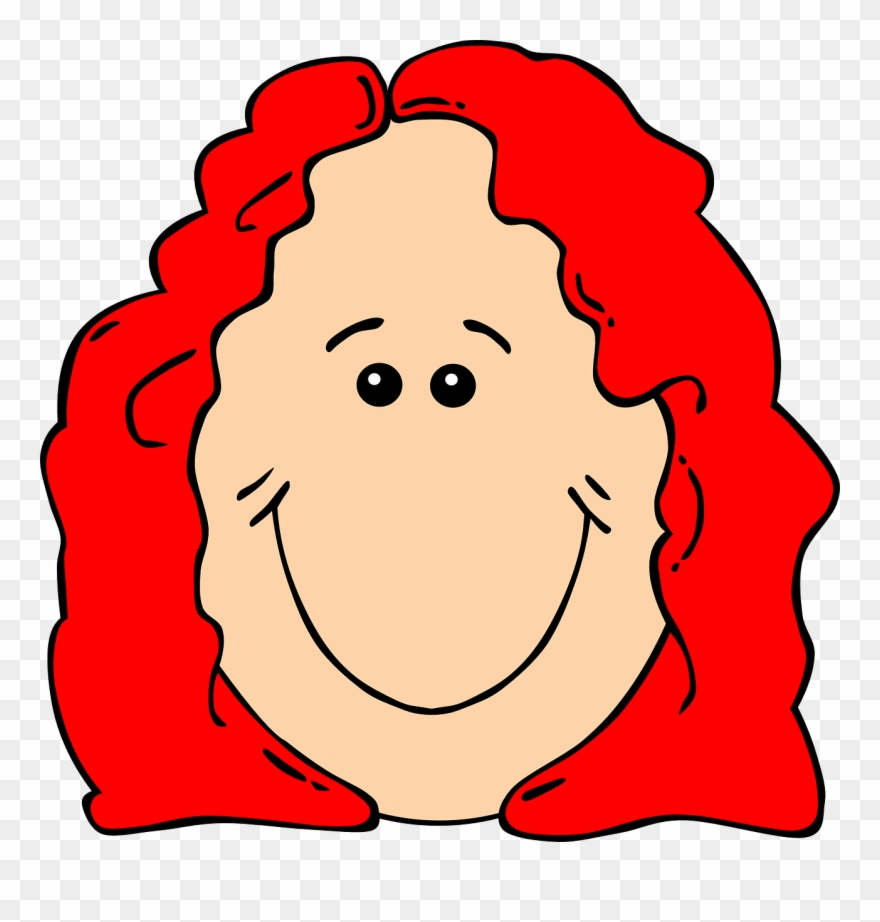 Red head woman clipart transparent download Cartoon Red Head Girl Clipart (#293879) - PinClipart transparent download