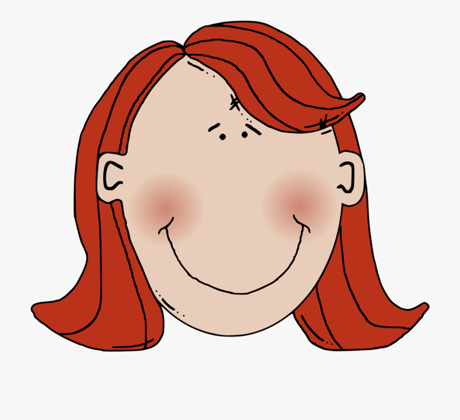 Red head woman clipart clip art transparent stock Woman Clip Art Women Face Girl Smiley - Red Hair Clipart ... clip art transparent stock