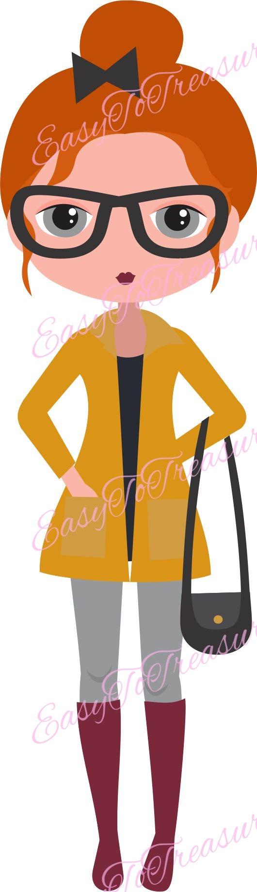 Red head woman clipart image freeuse stock Pin by Etsy on Products   Redhead girl, Digital art girl ... image freeuse stock