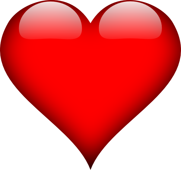 Red heart clipart jpg transparent download Glossy Red Heart Clip Art at Clker.com - vector clip art online ... jpg transparent download