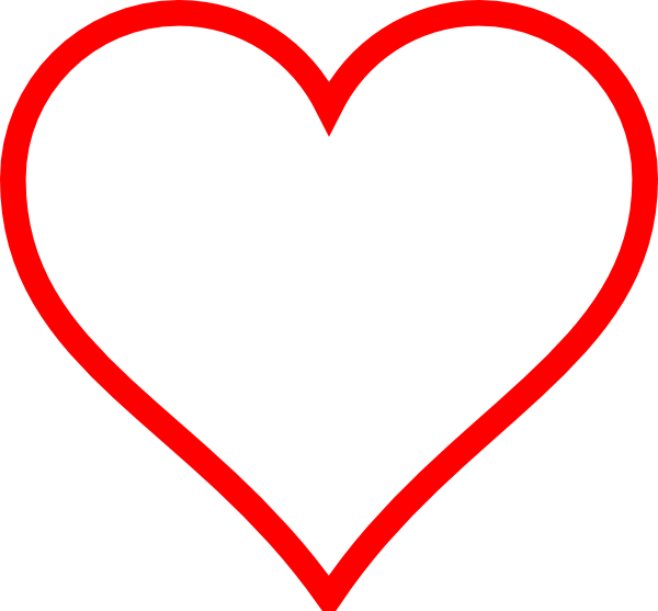 Red heart outline clipart banner royalty free White Heart W/ Red Outline Clip Art at Clker.com - vector clip art ... banner royalty free