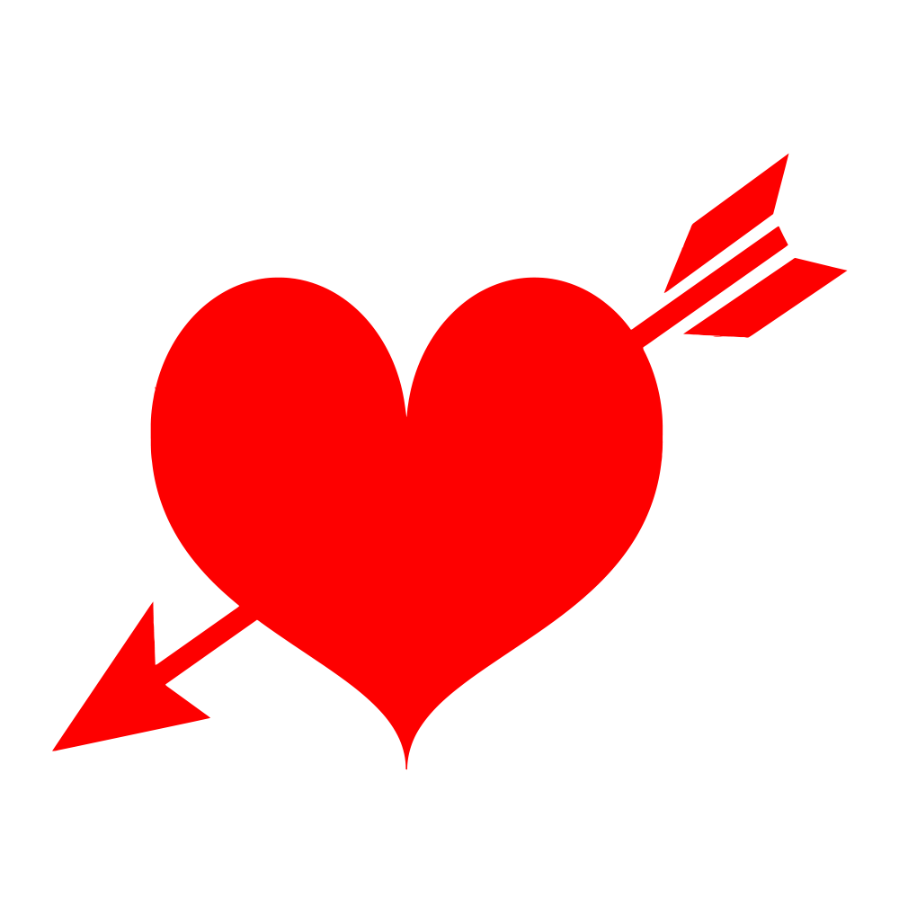 Red heart with arrow clipart transparent background jpg library arrow through heart png transparent background image – pngheart jpg library