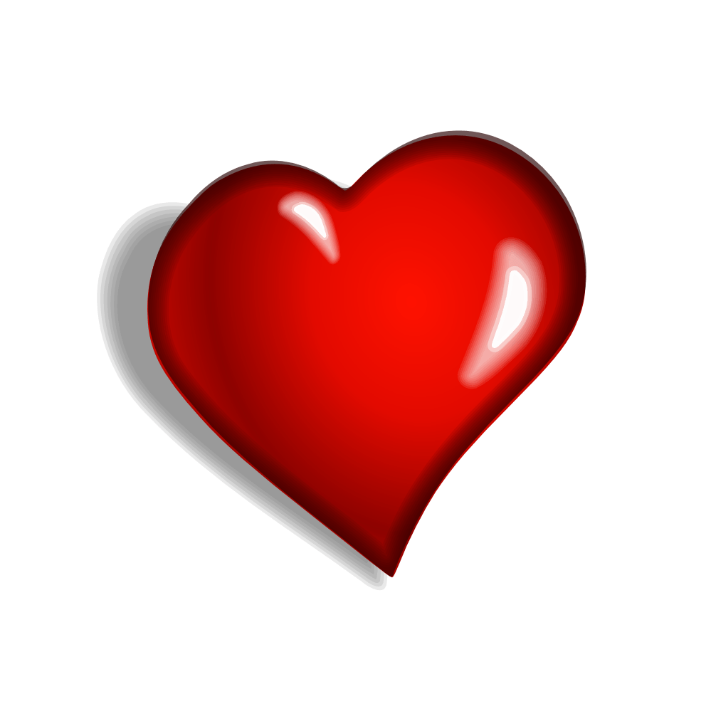 Red heart with arrow clipart transparent background png freeuse Heart Clipart Side transparent PNG - StickPNG png freeuse