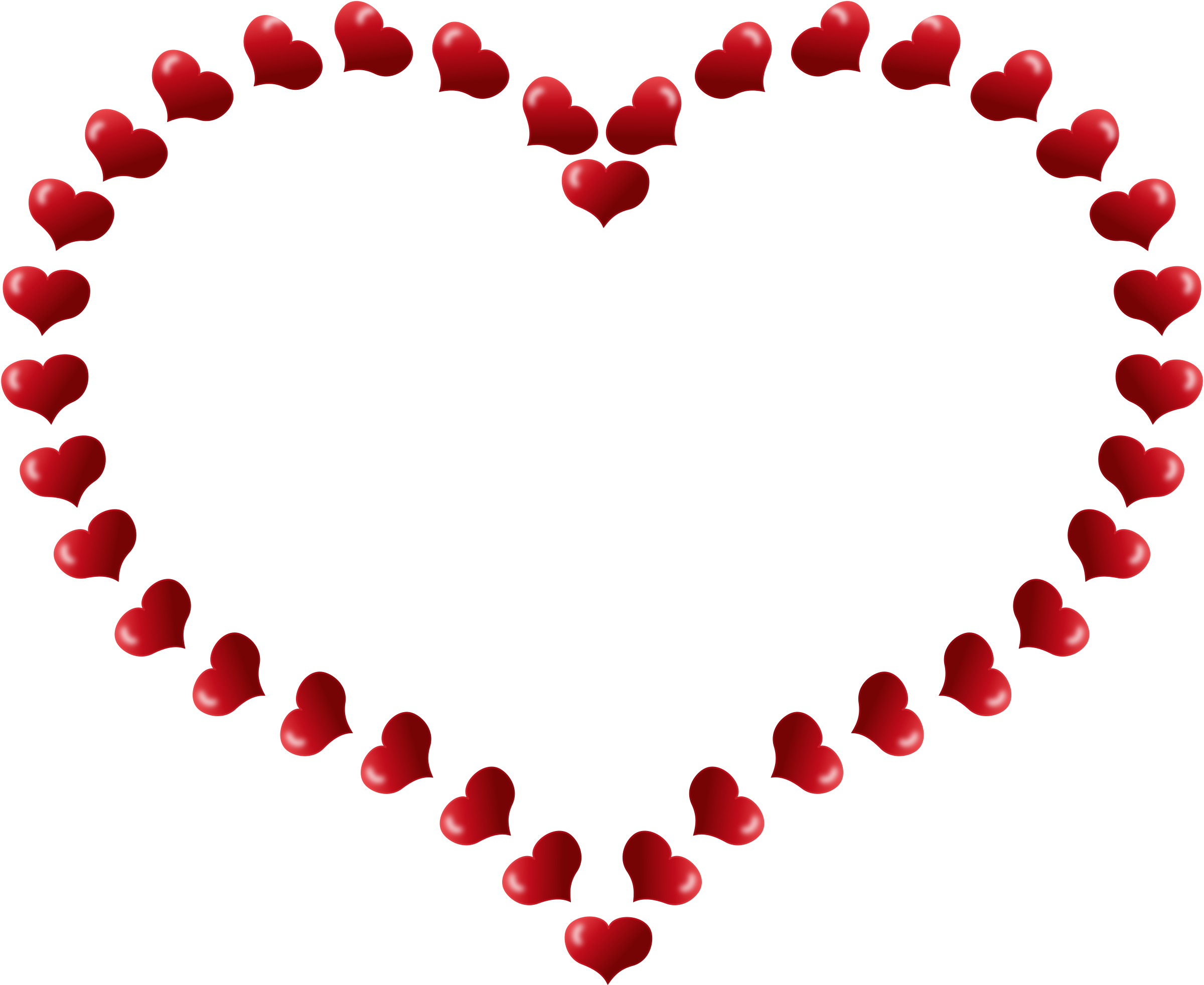 Small clip art hearts free free Clipart - Red Heart Shaped Border with Little Hearts free