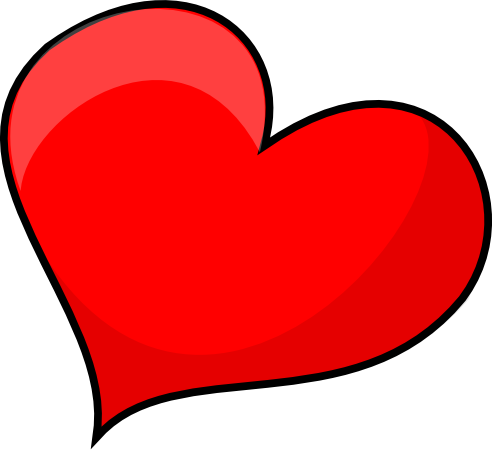 Red hearts clip art vector black and white stock Red Heart Clipart & Red Heart Clip Art Images - ClipartALL.com vector black and white stock