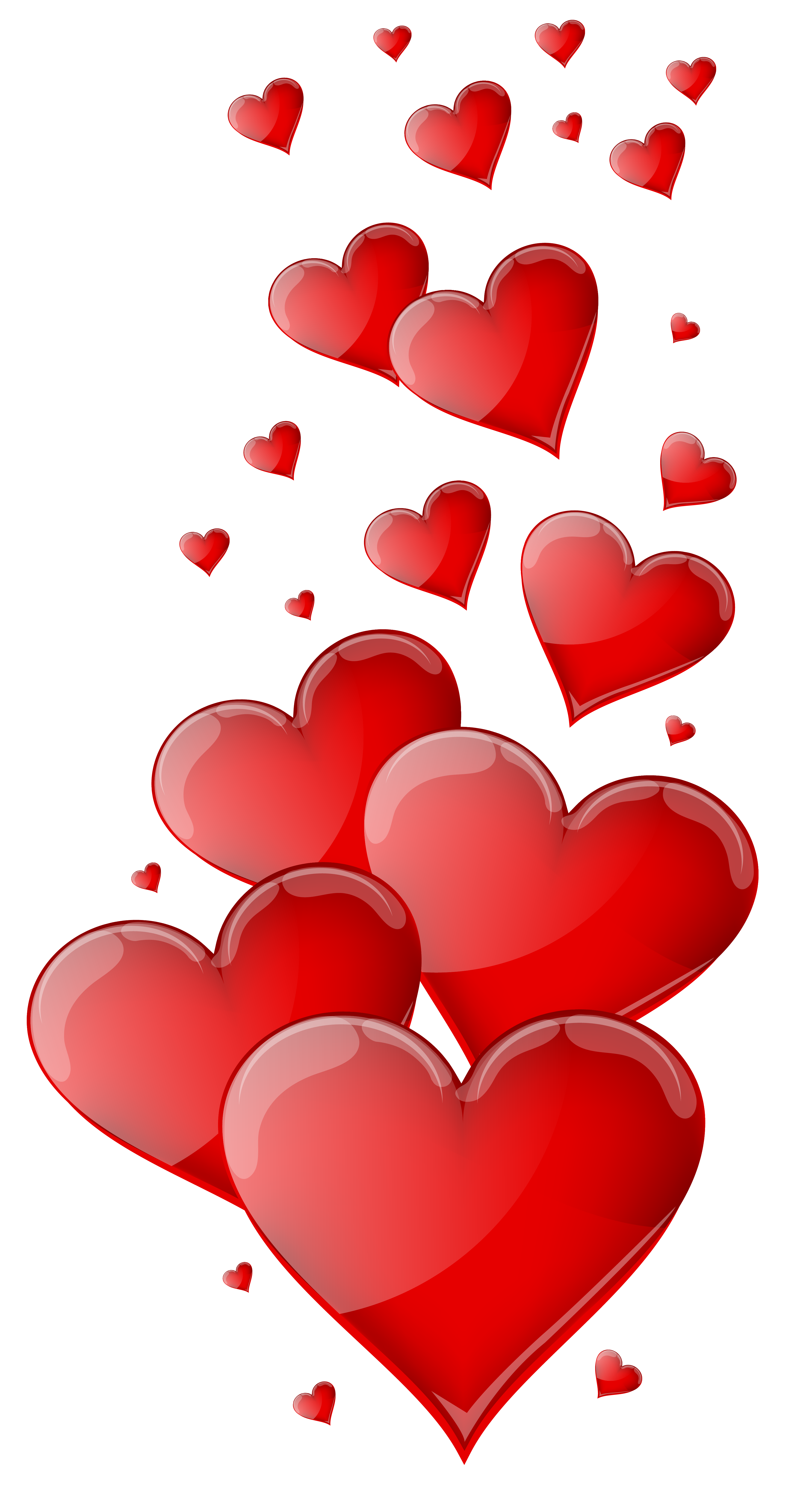 Hearts clipart vector royalty free Red Hearts PNG Clipart Image vector royalty free