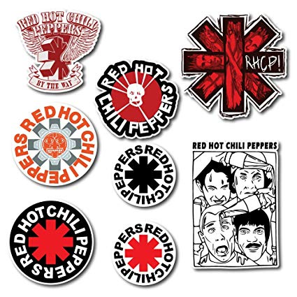 Amazon.com: Red Hot Chili Peppers Sticker Set Pack Rock Band ... banner download