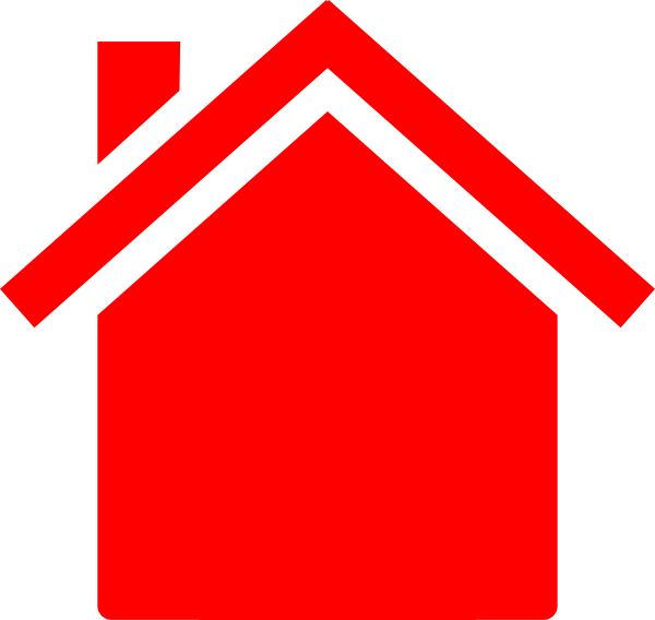 Red house clipart image library library Red House Clip Art at Clker.com - vector clip art online, royalty ... image library library