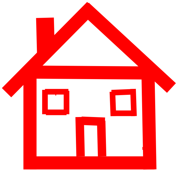 Red house clipart clipart freeuse download Stick House Clipart | Clipart Panda - Free Clipart Images clipart freeuse download