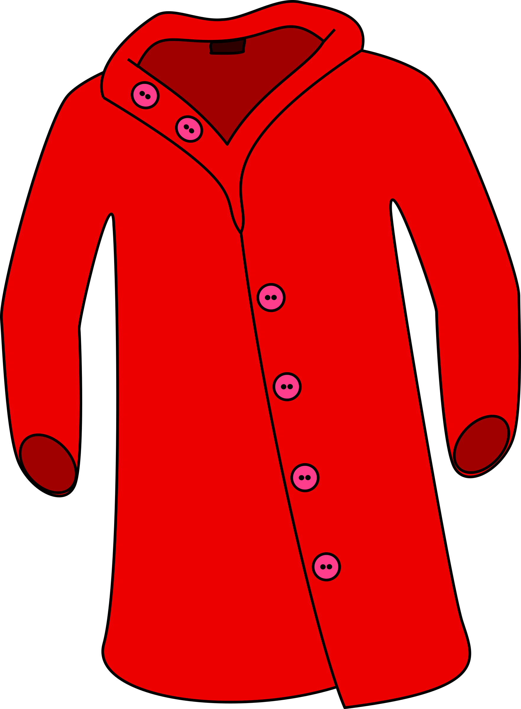 Red jacket clipart svg free library Cliparts Jacket Back - Cliparts Zone svg free library