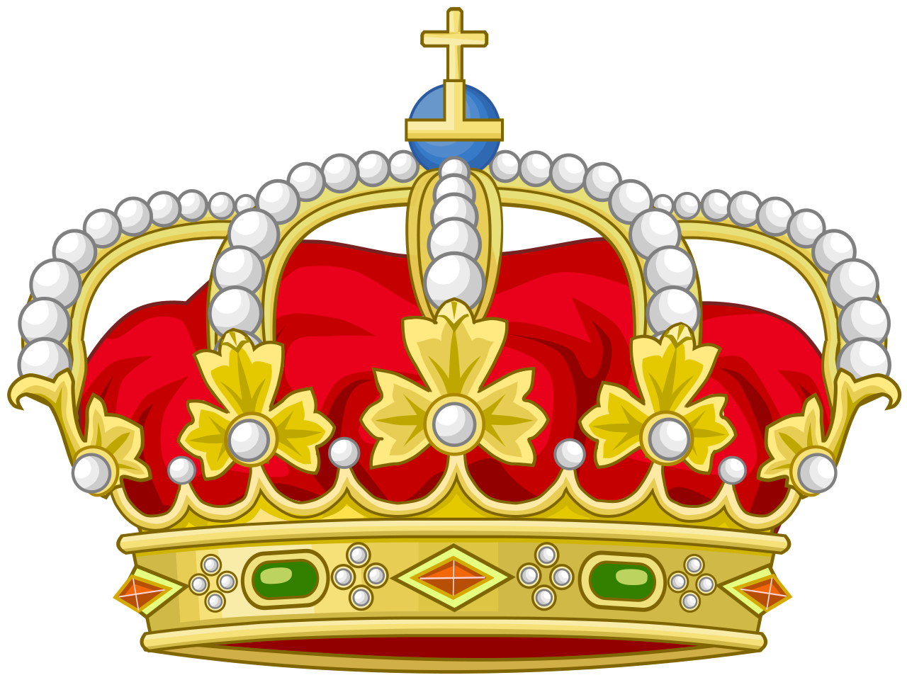 Red kings crown basketball clipart png freeuse download File:Heraldic Royal Crown of Spain.svg - Wikipedia png freeuse download