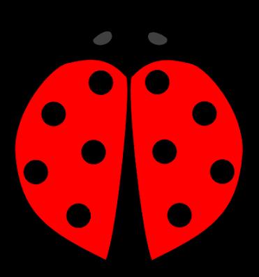 Image result for ladybug clipart   Infants A   Clip art ... banner black and white