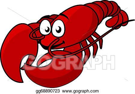 Vector Illustration - Cartoon red lobster. EPS Clipart ... jpg library