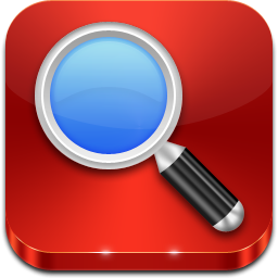 Magnifying Glass On Red Tile Icon, PNG ClipArt Image ... jpg transparent library