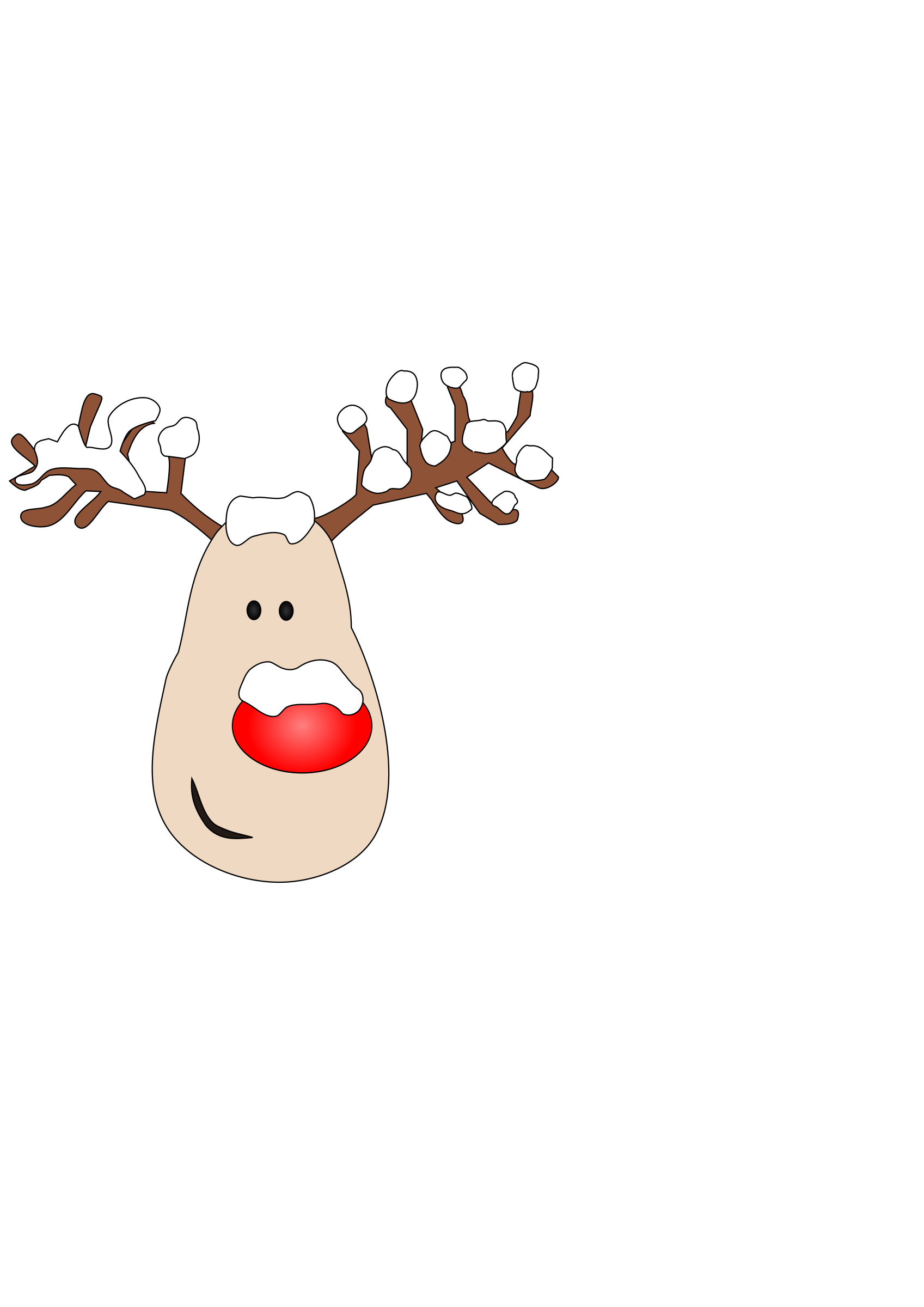 Red nose clipart free stock Reindeer with Red Nose and Antlers vector clipart image ... free stock