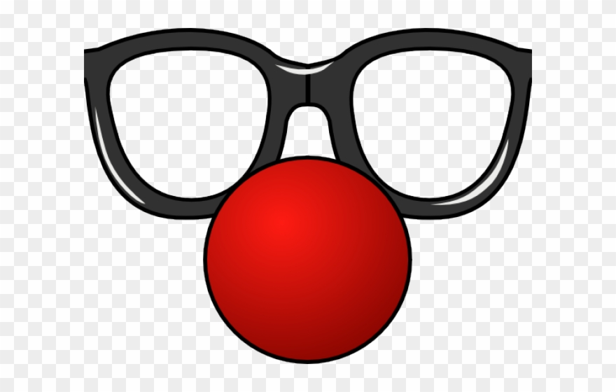 Red clown nose clipart clip art black and white library Glasses Clipart Red - Clown Nose Clipart - Png Download ... clip art black and white library